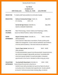 resume sample nursing student eliolera com