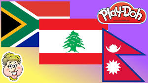 Former Flag Of South Africa Play Doh Flags South Africa Lebanon And Nepal Ewmj 452 Youtube
