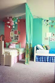 Turquoise Bed Frame Bedroom Shared Kids Bedroom Design With Cream Bed Frame Designed