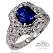 sapphires wedding rings images Sapphire diamond wedding ring platinum 2 61 ct royal blue jpg