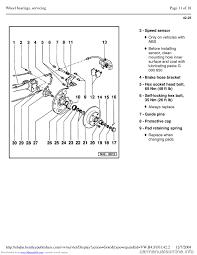 brake pads volkswagen passat 1995 b3 b4 3 g service workshop manual