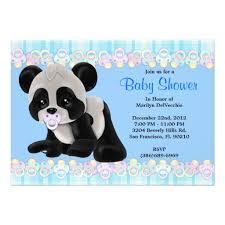 personalized panda birthday invitations custominvitations4u com