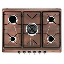 piano cottura rame piano cottura smeg srv876ra5 rame serie coloniale 70 cm