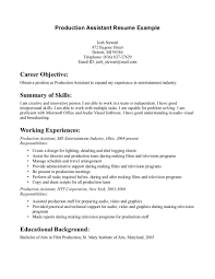 Resume Builder No Work Experience Production Assistant Resume With No Experience Resume For Your