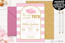 ballerina baby shower invitations tutu excited ballerina baby shower invitation template girl gold