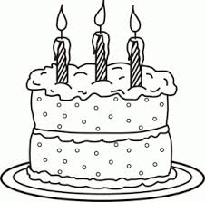 Birthday Cake Coloring Page Printable Coloring Me Birthday Cake Coloring Pages