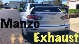 evo 10 spoiler manzo exhaust catback evo x driving u0026 rev youtube