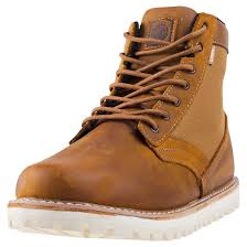 element seton boot breen mens brown leather u0026 canvas casual boots