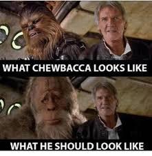 Chewbacca Memes - what chewbacca looks like what he should look like chewbacca