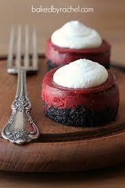mini red velvet cheesecakes baked by rachel