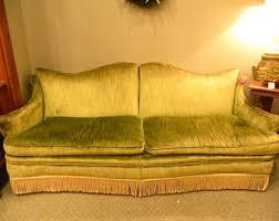vintage velvet sofa etsy
