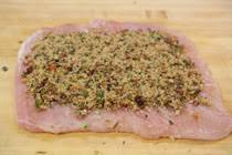 stuffed turkey breast with bacon cranberry breadcrumb