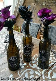 Purple Vases Cheap Halloween Decor On The Cheap Pretty Poison Vases Live From