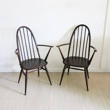 Windsor Armchairs Pair Of Quaker Back Windsor Armchairs By Lucian Ercolani For Ercol