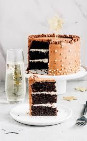 chocolate champagne layer cake u2014 the whole bite