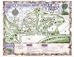 Caribbean Beach Resort Disney Map by Polynesian Resort Guide To Disney