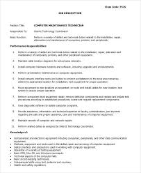 Tire Technician Job Description Resume Job Description For Maintenance Technician In Hotels Automotive