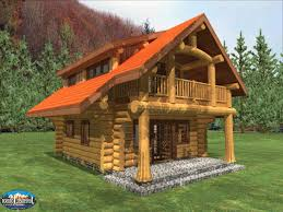 Small Cottage Homes 28 Log Cabin House Plans Small Cabins Vacation Home Floor 1056 3