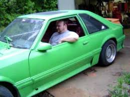 Black And Lime Green Mustang Lime Green 87 Ford Mustang With Black Smoke Youtube