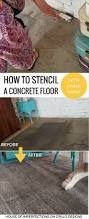 Painted Basement Floors Pictures by The 25 Best Stencil Concrete Ideas On Pinterest Stenciled