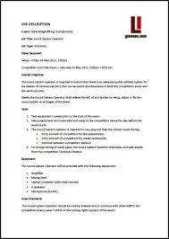 event management job descriptions for event staff