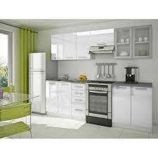 cuisine equipee cuisine équipée moderne blanche nérou achat vente cuisine