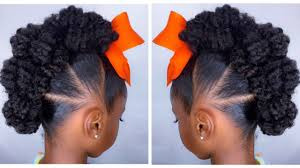 Fancy Hairstyles For Little Girls by Textured Bun Hawk Tutorial Kids Natural Hairstyle Iamawog