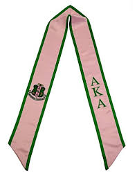 sorority graduation stoles alpha kappa alpha sorority deluxe embroidered