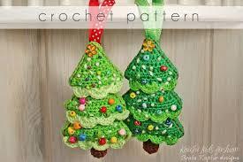 crochet pattern tree ornament ebook pdf pattern