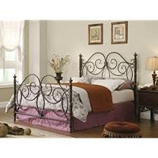 amazon com queen size antique style wood metal wrought iron look