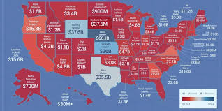 Red State Map by Here Is The Richest Woman In Each State Huffpost