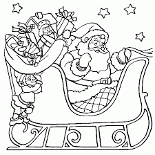 santa coloring pages coloring kids intended for santa coloring