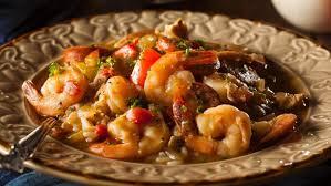 kreolische küche rezept für gumbo eintopf mit garnelen