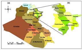 Iraq Province Map Estimation Of Annual Harvested Runoff At Sulaymaniyah Governorate