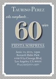 60th birthday u2013 spanish invitation so printable