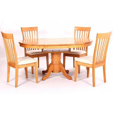 Leicester Extending Solid Rubberwood Dining Table With  Chairs - Rubberwood kitchen table