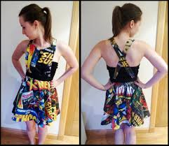 Marvel Super Heroes Clothing I Made A Marvel Comic Book Themed Dress It U0027s The First Dress I U0027ve