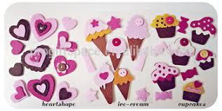 Fabric Heart Decorations 2017 New Handmade Fabric Heart Cupcake Ice Cream Crafts Wall