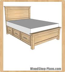 Bed Frame Plans With Drawers King Bed Frame Plans Woodworking Plans Platform Bed With