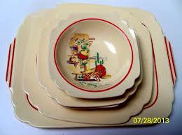 homer laughlin vintage vintage homer laughlin mexicana kitchen kraft bowls saucers