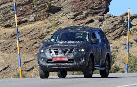nissan armada 2017 blue nissan navara suv spotted testing with production body coming in