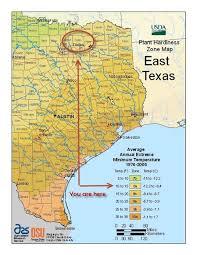 Gardening Zones Canada - usda hardinesszones easttexas map 498x644 jpg