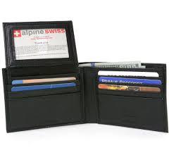 black friday mens wallet alpine swiss rfid blocking mens leather bifold wallet removable id