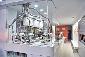 liquid nitrogen ice cream shop very popular and a great customer