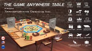 best board game table the game anywhere table by transforming designs inc kickstarter