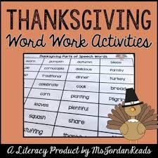 thanksgiving word work literacy activity packet by msjordanreads