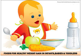 foods for healthy weight gain in infants babies toddlers