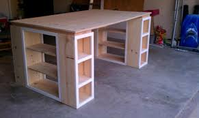 Craft Desk With Storage How To Make A Custom Craft Table Plywood Walmart And Desks