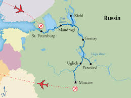 map of europe and russia rivers 12 day russian river cruise visit moscow and st petersburg