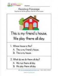 kindergarten reading passage kindergarten reading passages house a wellspring